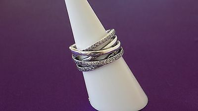 Pandora Entwining sterling Silver Ring. Size 54  S925 ALE