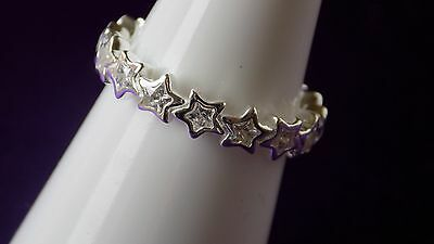 Pandora Star Shine Sterling Silver Ring. Size 60  S925 ALE