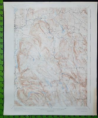 Becket Pittsfield Massachusetts 1938 Antique USGS Topographic Map 16x20