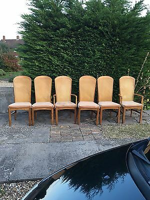 6 chairs including 2 carvers. well made john lewis.