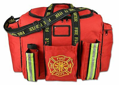 RED Lightning X Premium Firefighter XL Step-In Turnout Fire Duty Gear Bag
