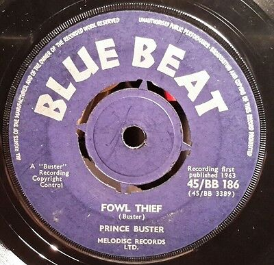 "Blue Beat 7""single - Fowl Thief / Remember Me - Prince Buster"