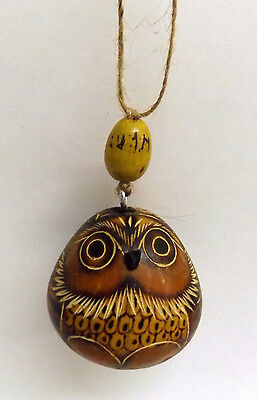 "Owl Bird Ornament Collectible Figurine New 2"" X 2 1/4"""