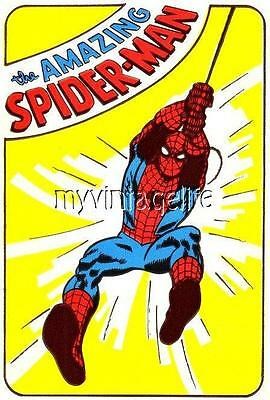 "Vintage THE AMAZING SPIDER-MAN  2"" x 3"" Fridge MAGNET ART NOSTALGIC"