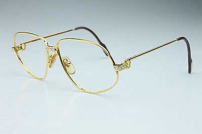 VINTAGE * CARTIER 1988 *  56*14 /  GOLD LUXURY FRAME / MADE in FRANCE