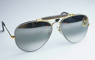 NOS! *RAY BAN OUTDOORSMAN PRECIOUS METALS* Double Gradient Mirrored B&L U.S.A