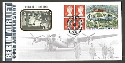 Benham 1999 Berlin Airlift Booklet Pane Fdc (Blcs156) Lot Gb105