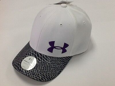 Brand New Girls WHITE/GREY Under Armour Heat Gear EMBROIDERED LOGO HAT Size OSFM