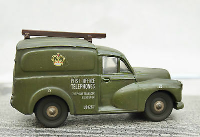 O Gauge  Morris Minor Van Post Office Telephones  Weathered
