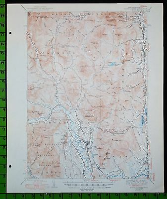 North Conway White Mountain NF New Hampshire 1950 USGS Topographic Map 16x20