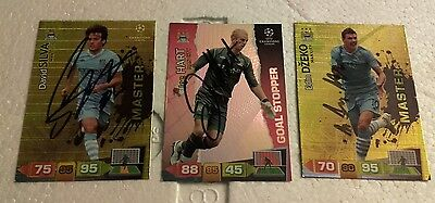 Manchester City signed Adrenalyn cards x 3 champions league 11/12 - see listing
