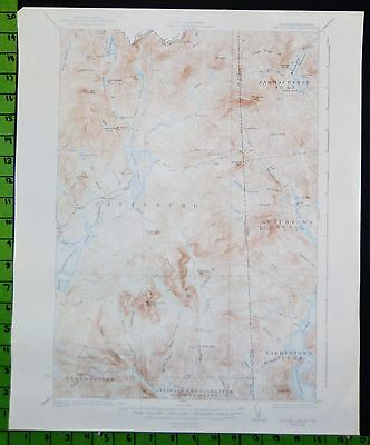 Second Lake New Hampshire 1938 Antique USGS Topographic Map 16x20
