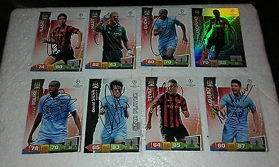 Manchester City signed Adrenalyn cards x 8 champions league 11/12 see listing