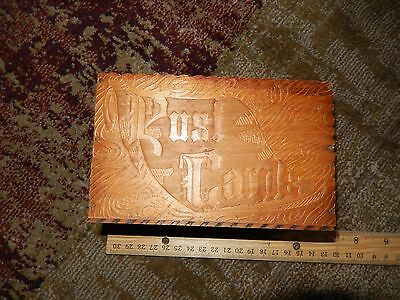 Vintage Wooded Post Card box - Early 20th Century