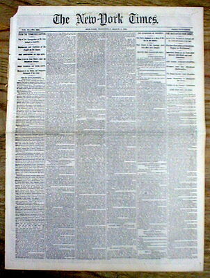 1862 NY Times Civil War hdlne newspaper UNION FORCES CAPTURE NASHVILLE Tennessee