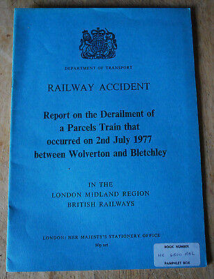 Railway Accident Report, Wolverton/Bletchley 1977