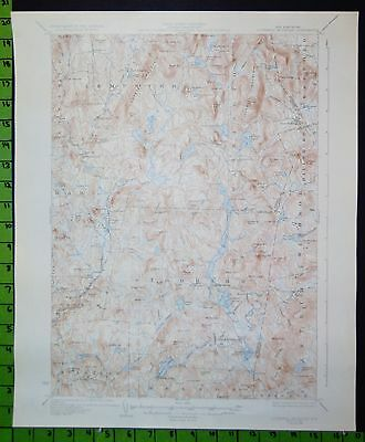 Lovewell Mountain New Hampshire 1933 USGS Topographic Map 16x20