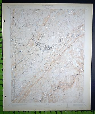 Mountain Lake Park Maryland 1921 Antique USGS Topographic Map 16x20