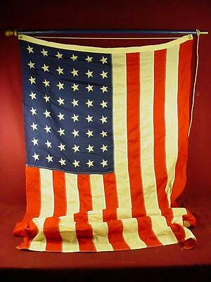 Vintage 48 Star American Flag With Pole