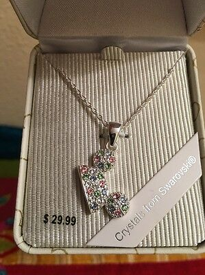 Disney Parks Exclusive Swarovski Crystals Necklace Pendant Mickey Mouse Ear Hat