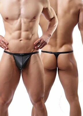 Gay Interest,Thong/ G String, Leather Look,Fetish, Size L,UK Seller, FAST & FREE