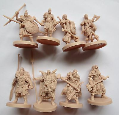8 Barbarians blood rage studio Mcvey Guillotine games boardgame figure Lot2