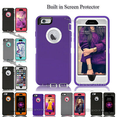 Full protection Defender Rugged Case iphone 6 /6 plus Cover (Clip Fits Otterbox)