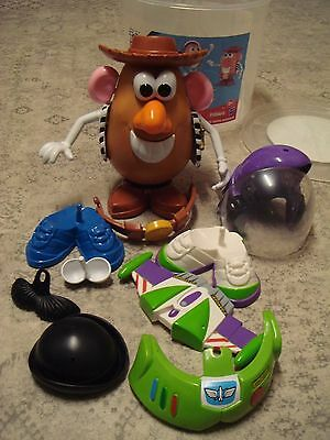 Toy Story 3 Mr Potato Head Buzz & Woody 20 Part Complete Set, Excellent Cond