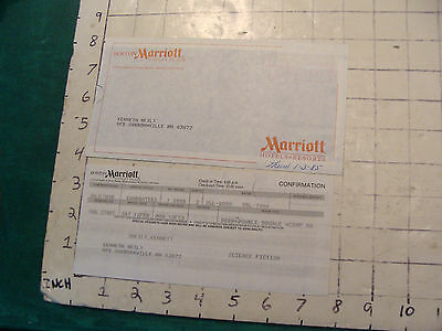 1985 Boston Marriott receipt papers for Sci Fi convention