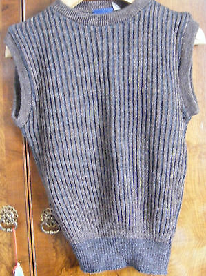 BROWN AND GREY RIBBED TANK TOP WITH ROUND NECK -size 30- BRAND =AMERICAN PIE