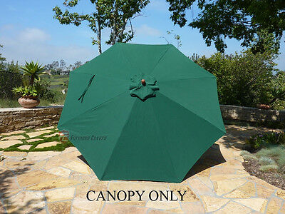 11ft Patio Garden Market Umbrella Replacement Canopy Cover - Green (Cover Only)