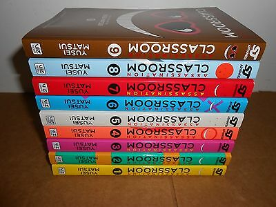NEW Assassination Classroom (Vol.1 - 12) English Manga Graphic Novels Lot anime