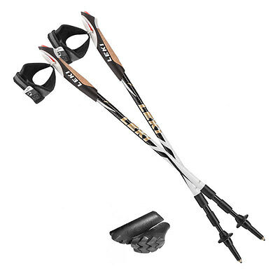 PAIR LEKI Traveller Carbon Nordic Packable (52cms!) Power Walking Poles