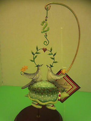 Dept 56 Two Turtle Doves Christmas Krinkles Ornament by Patience Brewster