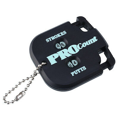New Golf Count Stroke Putt Score Counter Keeper Golfing Key Chain Black