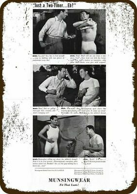 1940 MUNSINGWEAR Men's Underwear Vintage Look Replica Metal Sign - MIKE & DICK