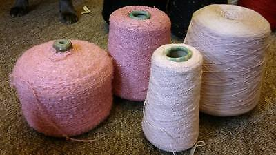 4 Large Spools 2.3kg of Pink colours Knitting Wool Yarn Machine Cone Hand