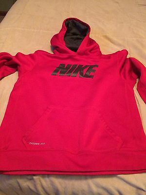 Boys  NIKE Hoodie Youth XL Therma-Fit Red Pullover Long Sleeve