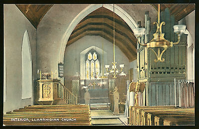 Llanrhidian Church interior. The Gower, Swansea, Glamorgan