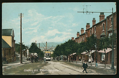 Tram on Station Hill in Kidderminster, Worcestershire