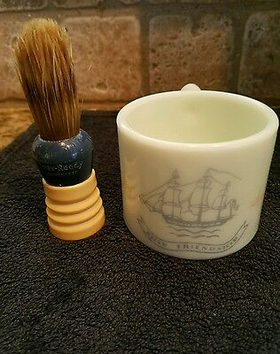 Awesome Vintage Ever-Ready Shaving Brush Blue/White 100