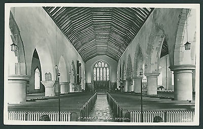 Interior of St Marys Church, Brecon. BRECONSHIRE / POWYS
