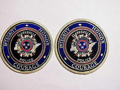 Clarksville (TN) Police Department Patches  -  Set of 2