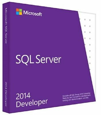 Microsoft SQL Server 2014 Developer Edition - 64 bit - 1 User