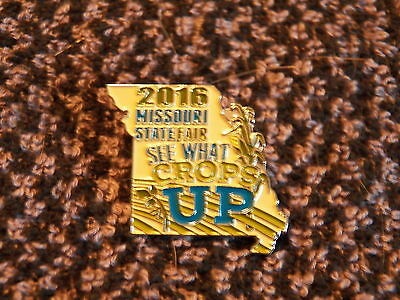 """2016 MISSOURI STate Fair """"See What Crops Up"""" Collector Pin   (P3)"""