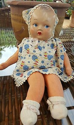 Vintage Joy Toys cloth doll made in Australia 12""