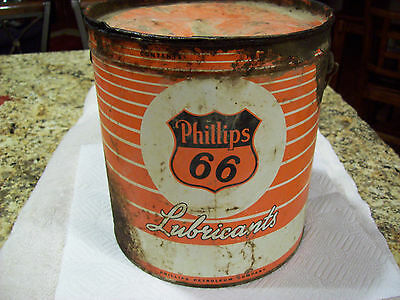 Vintage Phillips 66 Grease Can Pail Oil Can