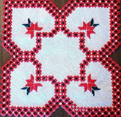 HARDANGER Embroidery - CHRISTMAS DOILY - NEW