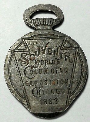1893 World's Columbian Exposition Souvenir Pocket Watch Case Opener Keystone Fob