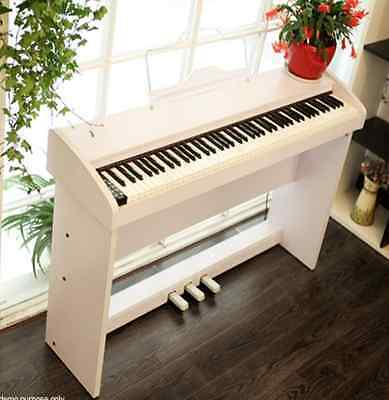 MELODIC 100 Rhythm 88 Standard Touch Response Keys 3 Pedals Digital Piano White